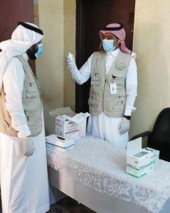 تطبيق الإجراءات الوقائية داخل مقر جمعية البر الخيرية بأحد المسارحة